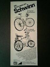 1972 Schwinn 5 Speed Sting~Ray Continental10 Speed Bicycle MPC Model Kit Bike AD