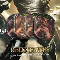 Ultra Pro Lineage Collection Relic Token Playset: Elf Warrior (x4) - Brand New