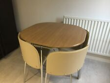 Space saving round table and chairs set only 2 months old