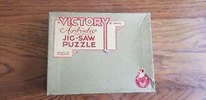 VICTORY ARTISTIC PLYWOOD JIG-SAW PUZZLE.WELL AWAY (HUNTING SCENE) 100 PCS