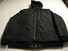 Robert Comstock Vertical Black Jacket with Vest and Rolled up Hood Sz: 3XT  $450