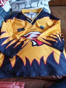 Vintage Blackburn Hawks  Ice Hockey shirt  size  2XL adult no1 rhino sports