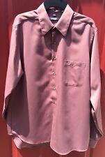 Men's Geoffrey Beene Pink Dress Shirt Long Sleeve 17 Neck 36/37 Sleeve
