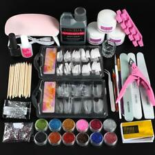 COSCELIA Acrylic Nail Kit With Lamp All For Manicure Gel Nail Kit Professional