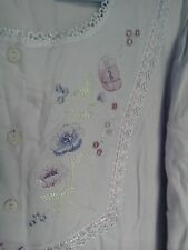 M&S lilac embroidered nightdress 12-14-16 new