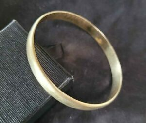 Vintage 1980's Solid 9ct 9k Yellow Gold Golf Bangle 8mm wide 28 grams