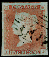 SG9, 1d pale red-brown PLATE 80, FINE USED. Cat £40. 4 MARGINS. IRELAND. IJ