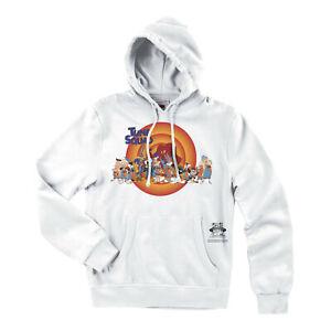Mitchell & Ness x Space Jam 2 A New Legacy Tune Squad Hoodie White Sweatshirt