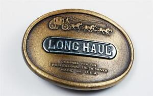 Belt Buckle Vintage Long Haul Professional Truck Driver Brass Stagecoach Exc
