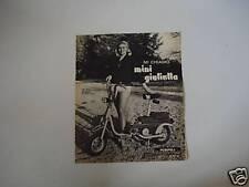 advertising Pubblicità 1968 MINI GIULIETTA PERIPOLI