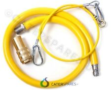 """GAS COMMERCIAL CATERING YELLOW GAS HOSE FLEXI PIPE 3/4"""" 1.5 METRE LONG 1500MM"""