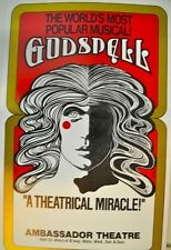 Godspell Original Poster, Ambassador Theater on Broadway