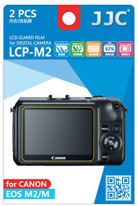 JJC LCP-M2 LCD Guard Film Camera Screen Display Protector for CANON EOS M2 EOS M