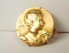 Art Nouveau 18k YG Diamond EMILE VERNIER Brooch/Pin * GAL Appraisal * Gift Box