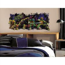 TEENAGE MUTANT NINJA TURTLES trouble wall sticker MURAL Raphael Leonardo Mikey