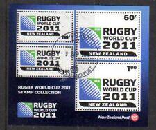 Nueva Zelanda 2010 Copa Del Mundo De Rugby 2011 Hoja F. USADO