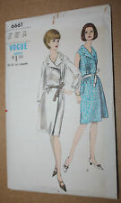 1960s VINTAGE SEWING PATTERN VOGUE 6661 ONE - PIECE DRESS SIZE 12 BUST 32 HIP 34