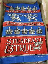 Emma Bridgewater Tea Towel DIAMOND JUBILEE STEADFAST & TRUE BNWT