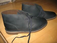 Clarks Bushacre 2 Navy Leather Shoe- Size 7 -New in Box