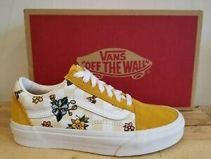 Vans Old skool Cottage Check Yellow Skateboarding Sneaker Shoe for Women