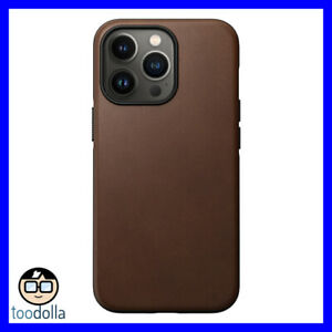 NOMAD Modern Case - genuine Horween Leather for Apple iPhone 13 Pro, Brown