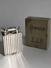 Superbe RARE ancien BRIQUET DUNHILL PARKER ART DECO boîte TTBE jamais utilisé