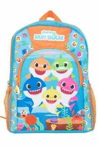 Baby Shark Childrens Backpack Bag Kids School Character Rucksack Nursery Lunch