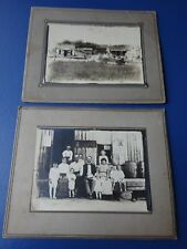 2 1917 Photographs, Rural Farm and Post Office Store, Family Outside Store