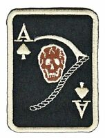 as13 Totenkopf Karte Ass Pik Ace of Spades Aufnäher Bügelbild Applikation Patch