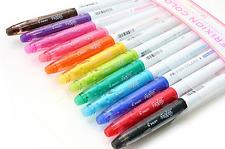 12 x Pilot FriXion Colors Erasable felt tip pens markers