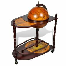 vidaXL 240699 Globe Bar Cabinet with Table Trolley