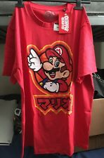 Official Nintendo Super Mario Kanji T-Shirt - Red (Medium)