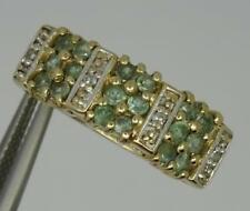 Beautiful 9ct Yellow Gold Natural Alexandrite & Diamond Ring UK Size N
