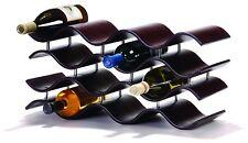 Wine Rack 12 Bottle Elegance Wood Holder Storage Bar Tabletop Kitchen Organizer