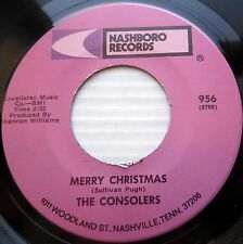 CONSOLERS gospel 45 MERRY CHRISTMAS THERE WILL BE PEACE ONE OF mint minus F1188