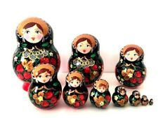"""New Hand Painted 5"""" Russian Nesting Doll Matryoshka 10 Piece Set Made In Russia"""