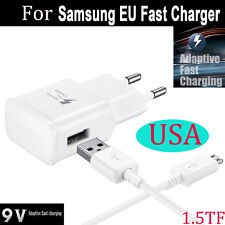 EU Charger Adaptive Fast Charging For Samsung Galaxy Note 4 Edge S6