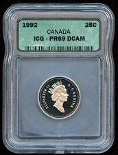 1992 Canada 25-cent Proof ICG PR69 DCAM - Sale