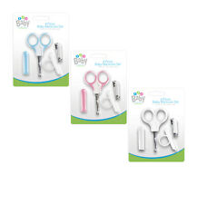 4 Piece Baby Manicure Set Scissors Nail Clippers & Nail Cover Prevent Scratching