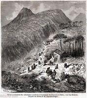 Fiumara di Muro: Riunione Volontari Calabresi di Garibaldi. + Passepartout. 1860