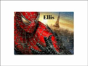 Spiderman 80 Pieces A5 Jigsaw Puzzle - Lockdown Kids Game -   Personalised