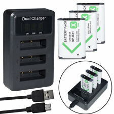 3X NP-BX1 Batteries+ Triple Charger For Sony DSC-HX60 HDR-AS200V HDR-AS15 AS30V
