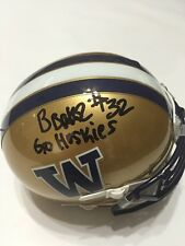 Budda Baker Signed Auto Washington Huskies Mini Helmet w/photo Proof & COA