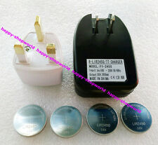 1x US Charger + 4x LIR2450 Rechargeable Button Coin Battery + 1x UK Plug Adapter