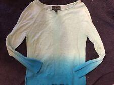 euc L-RL Lauren Active mint aqua teal lightweight Sweater shirt XS spring summer