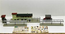 3pc Vintage 1960s Faller Germany Train Station +Depot N to HO Scale TOUGH KITS
