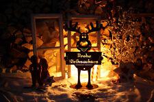 Edelrost tiere gartenfiguren skulpturen ebay for Rostfiguren weihnachten
