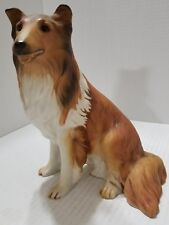 "Vintage Collie Dog 1986 Masterpiece Porcelain by Homco 8"" Tall"