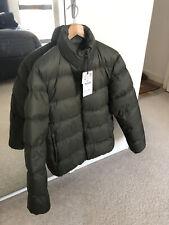 Mens Zara Down Puffer Jacket Khaki Medium (RRP 89.99)