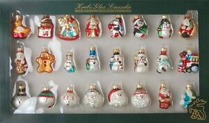Krebs Glas Lauscha - Mini Glasfiguren als Weihnachtsbaumschmuck Glaskugeln Deko